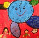 Right on Time! by Estelle, age 5, Singapore
