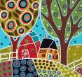Barn Trees and Garden by Karla Gerard