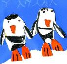 Penguins by Gwen, age 8, Columbia, Maryland