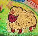 Red Face Sheeps by Isabelle, age 5, Singapore