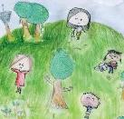 Playing in the Park by Karen, age 10, Taipei, Taiwan, R.O.C.