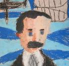 Orville Wright by Nic N, age 7, Brentwood School, Los Angeles