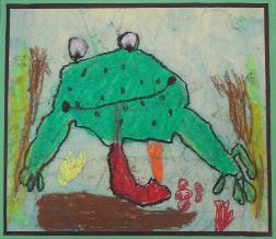 Frog by Alexa Avila, age 5, Olney, Maryland