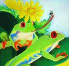 Frogs by Emily Lynn, age 11, Ann Arbor, Michigan