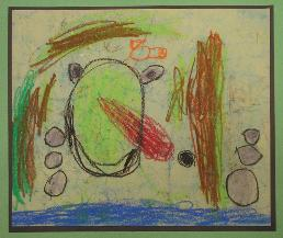 Frog by Jonathan Lee, age 5, Olney, Maryland