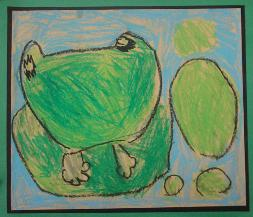 Frog by Lauren Miller, age 6, Olney, Maryland