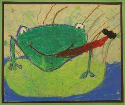 Frog by Reagan schwartz, age 6, Olney, Maryland