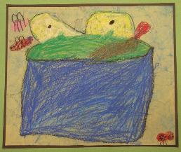 Frog by Sophie Rosenthal, age 5, Olney, Maryland